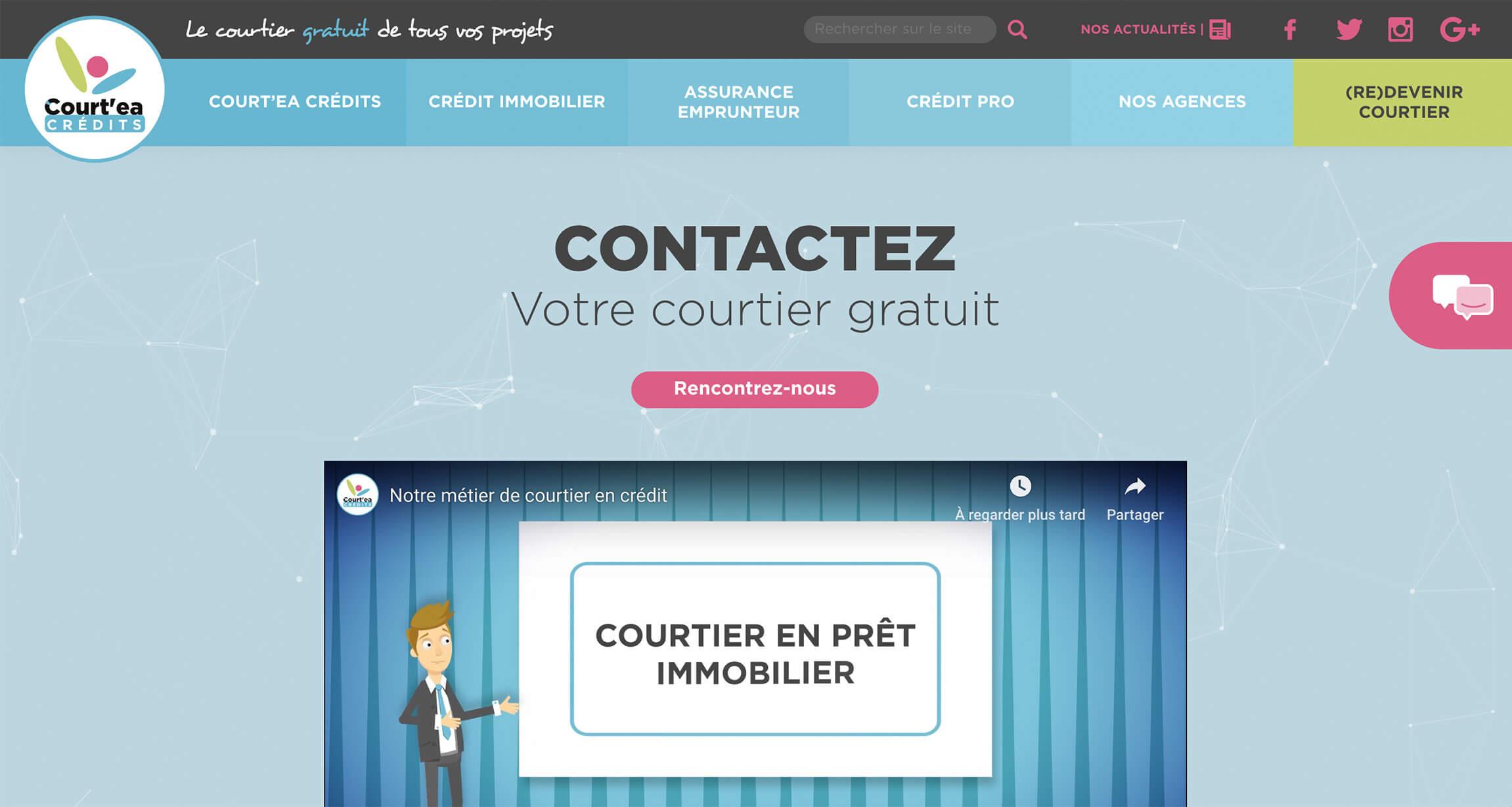 Page d'accueil du site de Court'ea