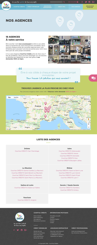Page nos agences du site de Court'ea
