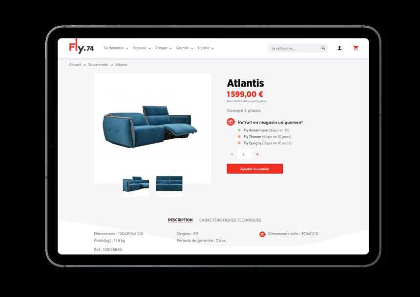Fly74 nouveau site ecommerce iPad pro