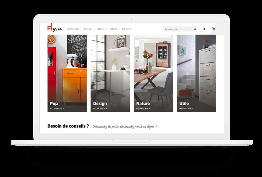 FLy74 nouveau site internet page d'accueil