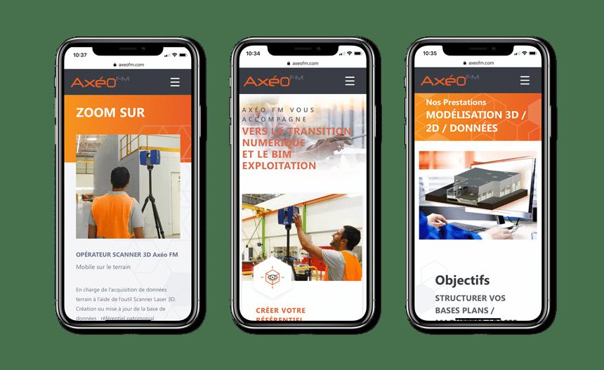 Axeo FM site mobile responsive