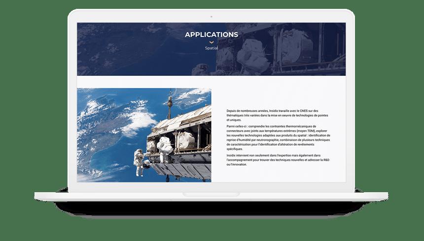 insidix site internet applications industrielles