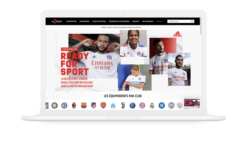 +2FOOT équipement football supporters site internet