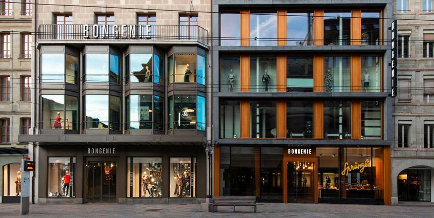 Boutique Bongénie-Grieder vue de l'extérieur