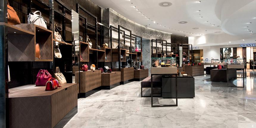 Vue intérieure d'une boutique Bongénie-Grieder