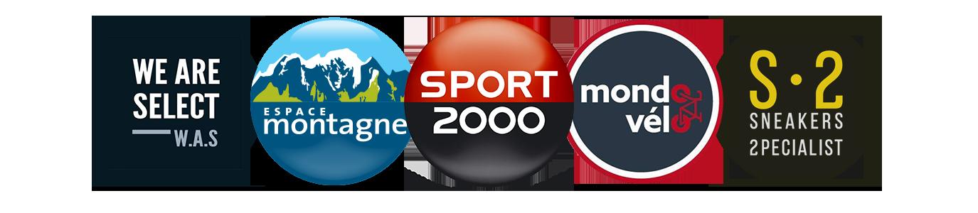 logos des enseignes de Sport 2000