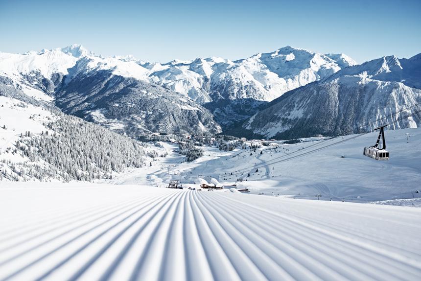 domaine skiable des 3 vallées dans les alpes françaises