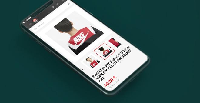 Aperçu du site Internet mobile Ma e-réservation de Sport 2000