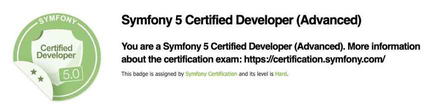 Symfony 5 certification