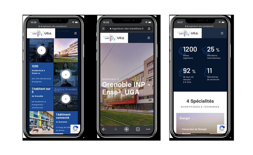 site Internet Grenoble INP – Ense³ sur iPhone X