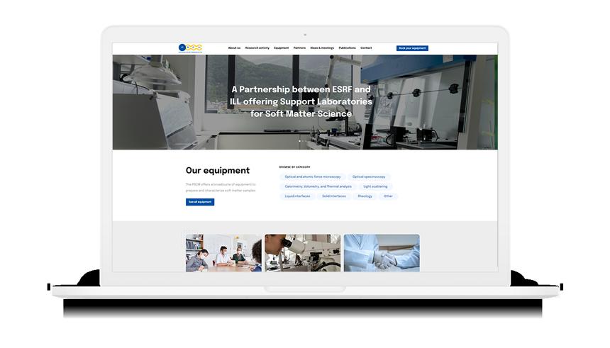 Site Internet de PSCM sur un macbook pro