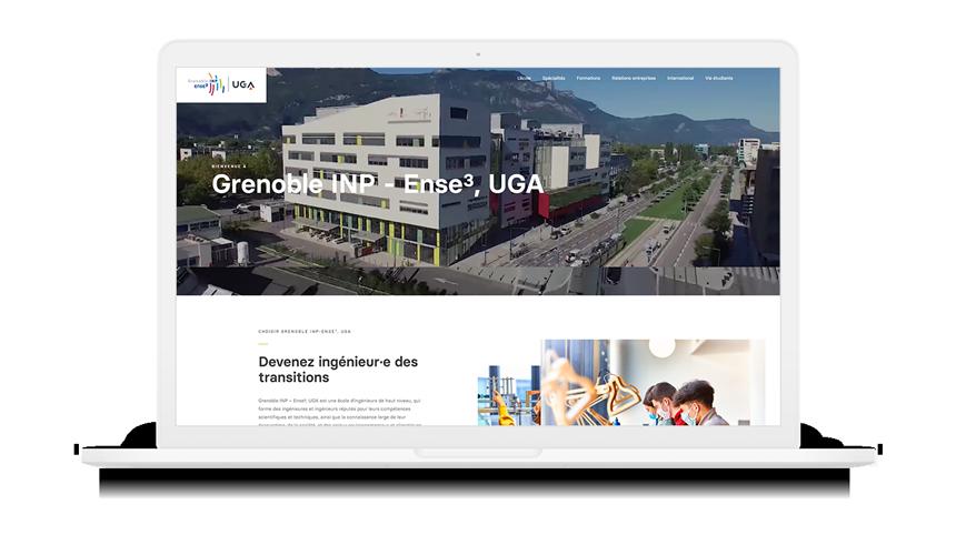 Site internet de Grenoble INP – Ense³ sur macbook
