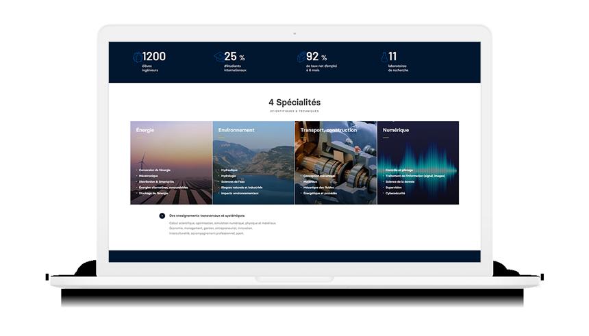 """Site Internet """"Ingénieur des transitions"""" sur macbook"""