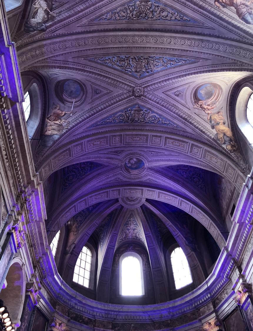 Plafond de La Chapelle de la Trinité à Lyon