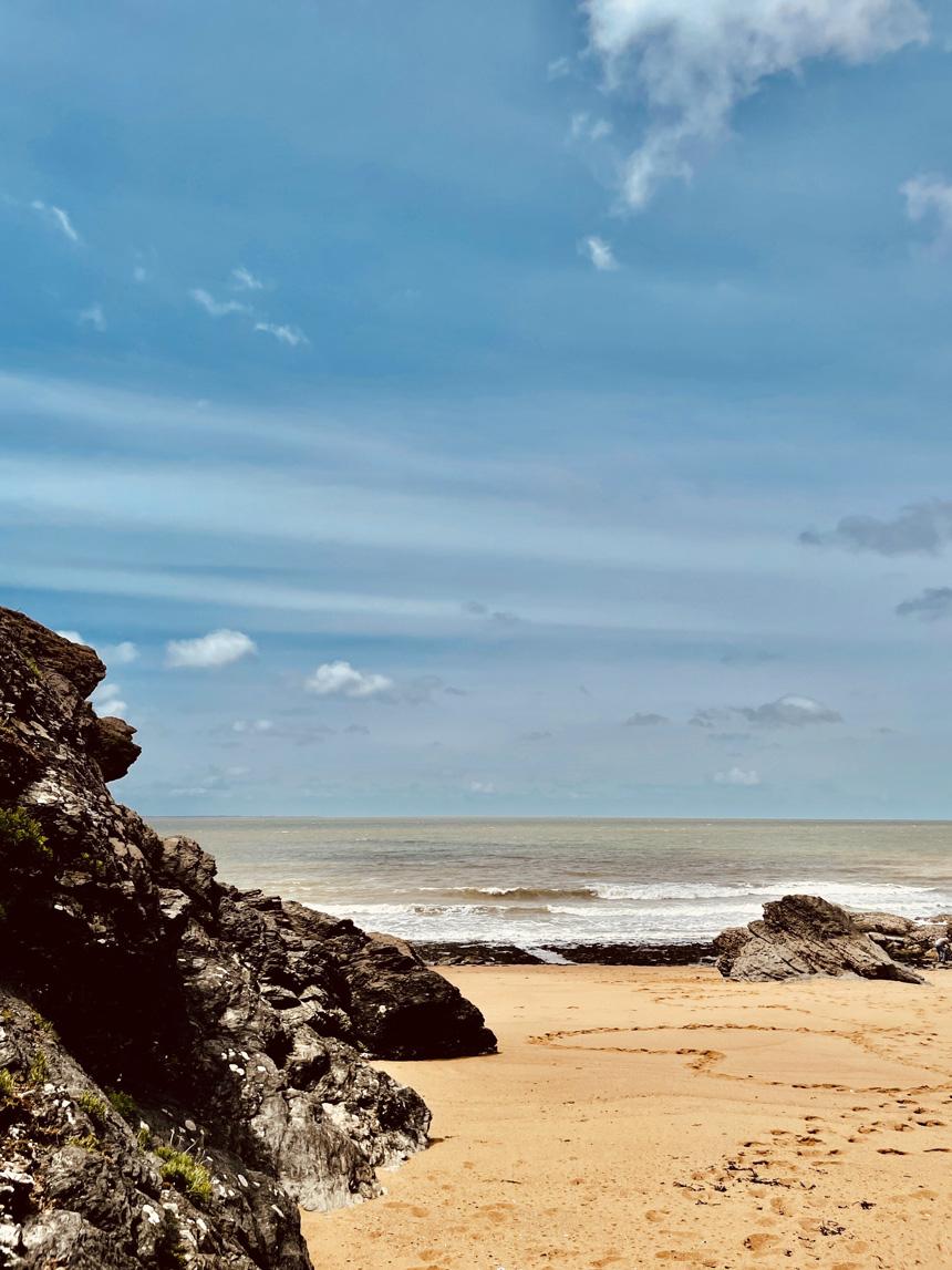Océan atlantique vu d'une plage de Noirmoutiers