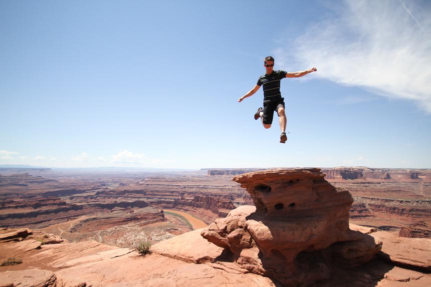 Paul au Grand Canyon, Arizona, USA