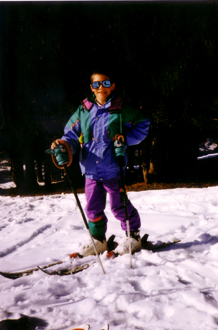 Paul enfant au ski