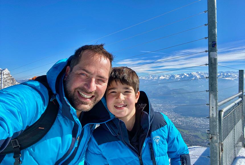 Selfie au-dessus de Grenoble
